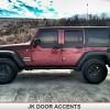 Jeep Wrangler Door Accents Skins Decals Top Door Stripe on 1995 Jeep Cherokee Cut Top