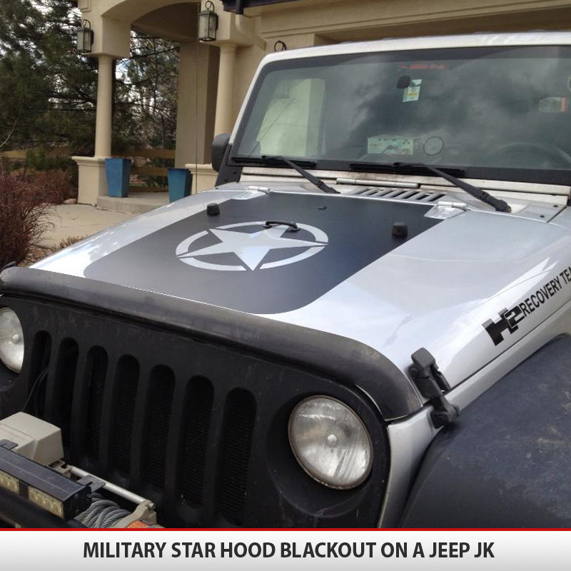 Galerry custom jeep wrangler hood decals